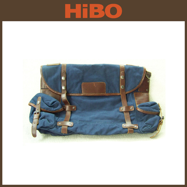 2015 hot style eminent vintage waterproof waxed canvas travel bag for men