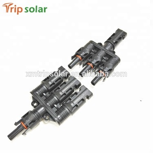 3-pin male female MC4 solar panel cable connector