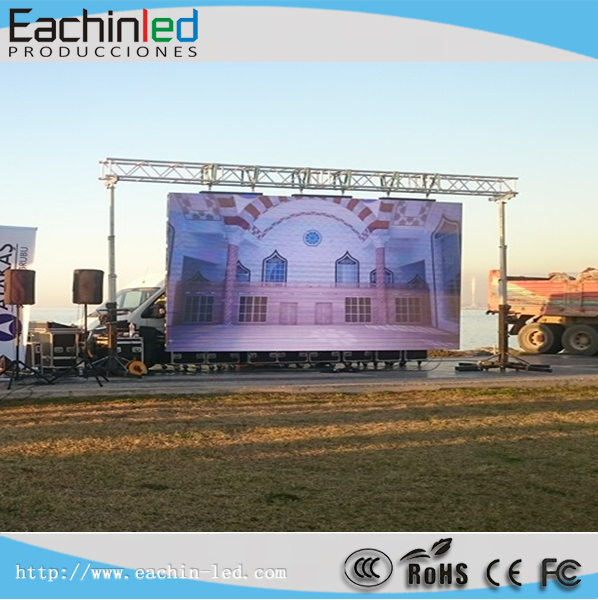 See larger image Full color big LED display SMD3535 3in1 nova LED screen outdoor LED display P5.95 Full colo