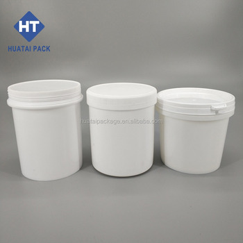 1l Print Food Grade Silicone Lubricant Grease In Plastic Can,Coating Latex  Paint,Empty Plastic Box For Packing Grease - Buy 1l Pp Plastic Bucket Or