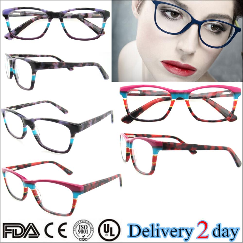European And American Design Styles Acetate Optical Eyeglasses ...