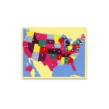 Fascinating Kids Montessori Educational Wooden Puzzle Scratch Map Of ...