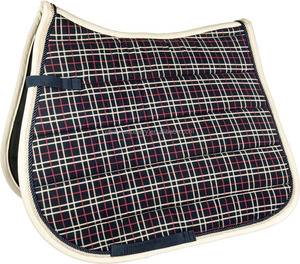 Durable Plaid racing saddle pads