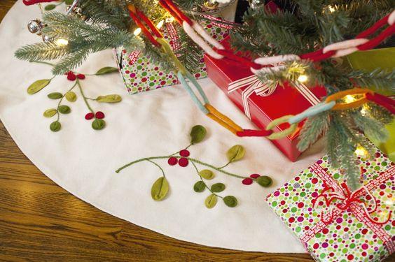 90cm Christmas Tree Skirt Handmade Skirts