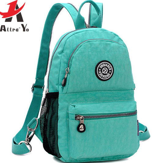 Atrra-Yo! hot sale women backpack school bags waterproof nylon backpacks women's travel bags Rucksack Printing bag LS4108ay