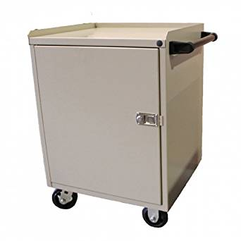 """Valley Craft F89611GY Single Door Modular Mobile Cabinet with 5"""" Caster, 21"""" Length x 24"""" Width x 33"""" Height, Smoke Gray"""
