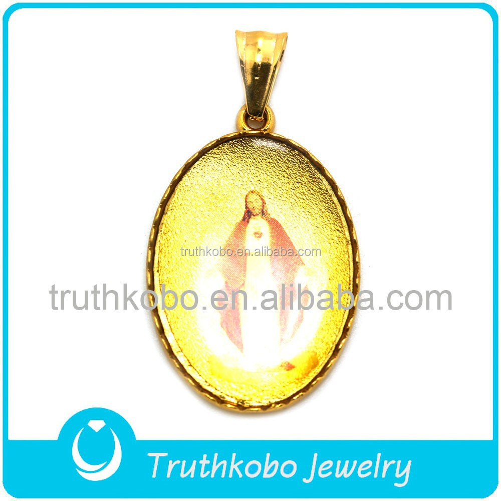 High Quality Stainless Steel Religious Jewelry Gold Plating Religious Jesus Pendant Wholesaler from China Market for Pendant
