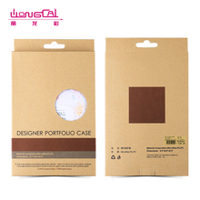 High quality kraft window hanging paper mobile phone case packaging box