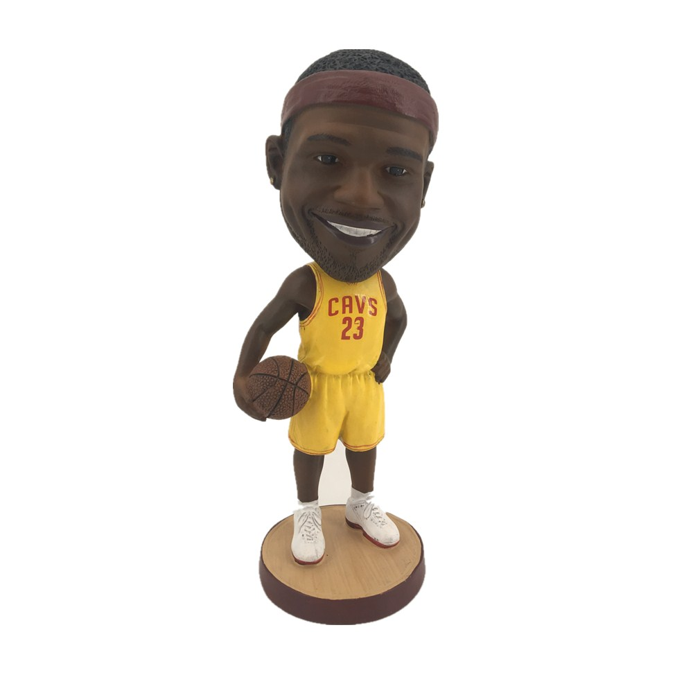 Custom grappig hars basketbal speler Lebron James dashboard bobble head