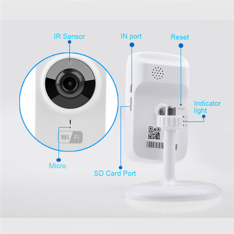 V380 Mini Wifi Ip Camera Wireless 720p Hd P2p Smart Camera