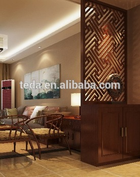 2014teda living room partition design buy living room - Wooden glass partition design ...