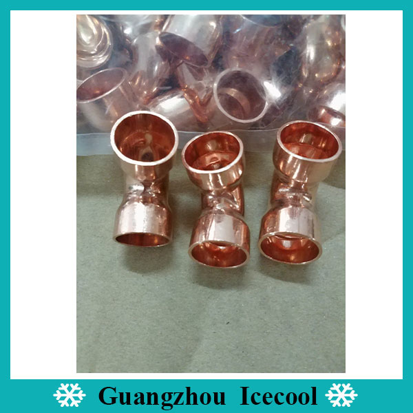 Copper pipe fittings 1/2 inch 90 degree threaded copper elbow long radius