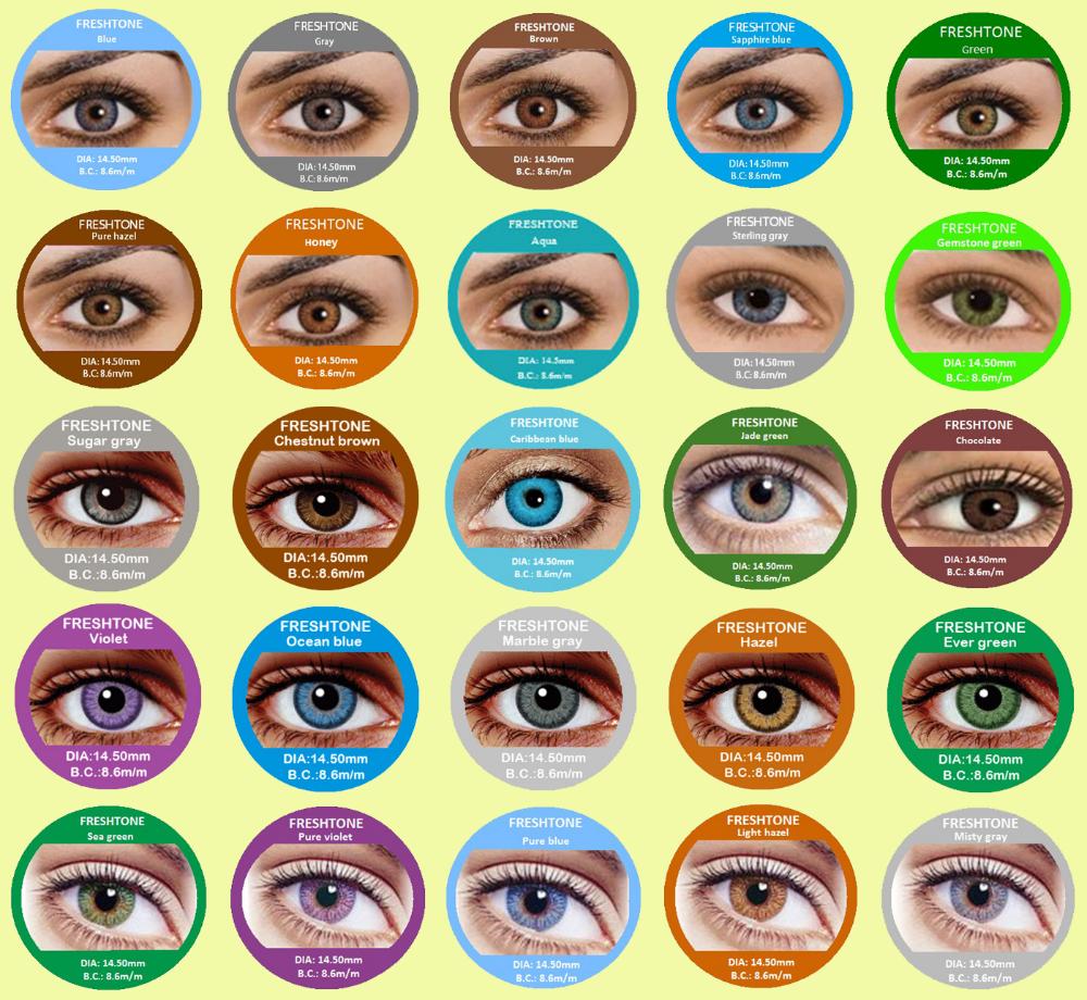 71bf13d7bc 25 colores freshtone corea cosmética barato lentes de contacto de color  venta al por mayor