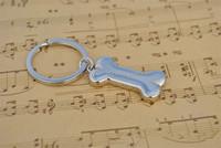 3D Fashion Metal Zinc Alloy Car Key Chain Charms Pendant Key Ring Dog Bone Keychain
