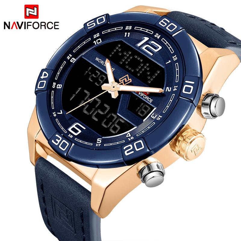bd827916e NAVIFORCE Marca de Luxo Homens Relógios Desportivos Da Moda Homem Relógio  Digital Militar Do Exército dos