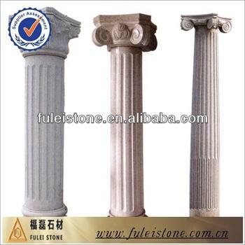 Round square pillar design granite and marble pillar buy for House columns prices