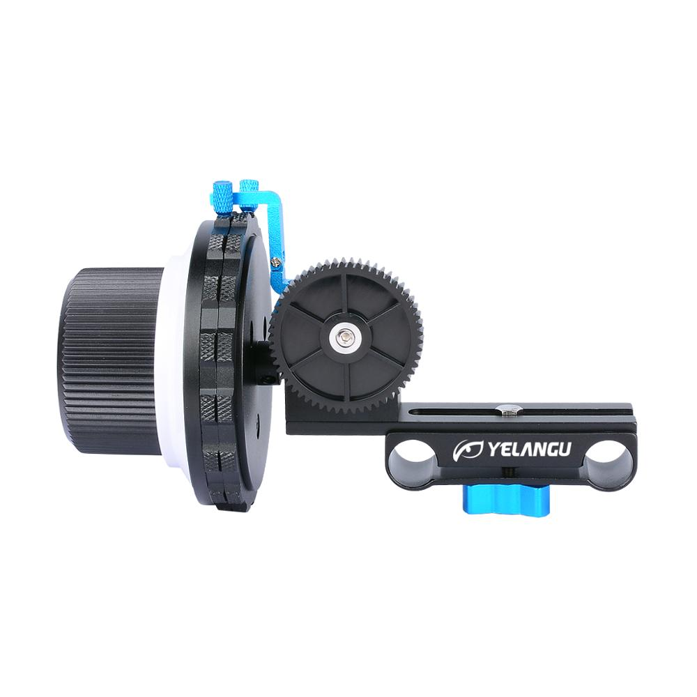 YELANGU Multi-function A/B Hard Stop DSLR Camera Follow Focus With Gear Ring Belt