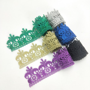 guipure colorful wholesale embroidered trim lace for making lace crown
