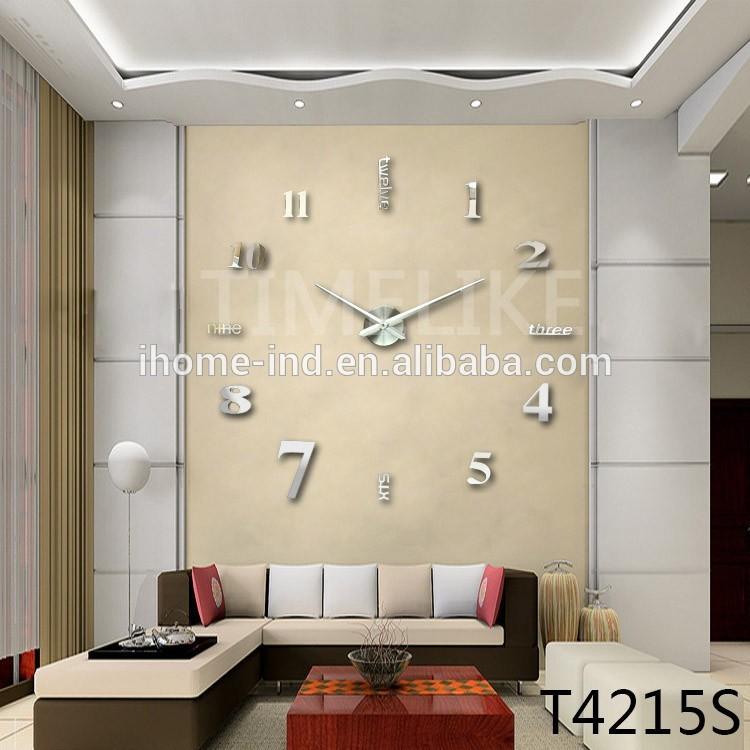 Fashion design diy orologio da parete orologio da parete di lusso adesivo orologio a muro - Orologio da parete di design ...