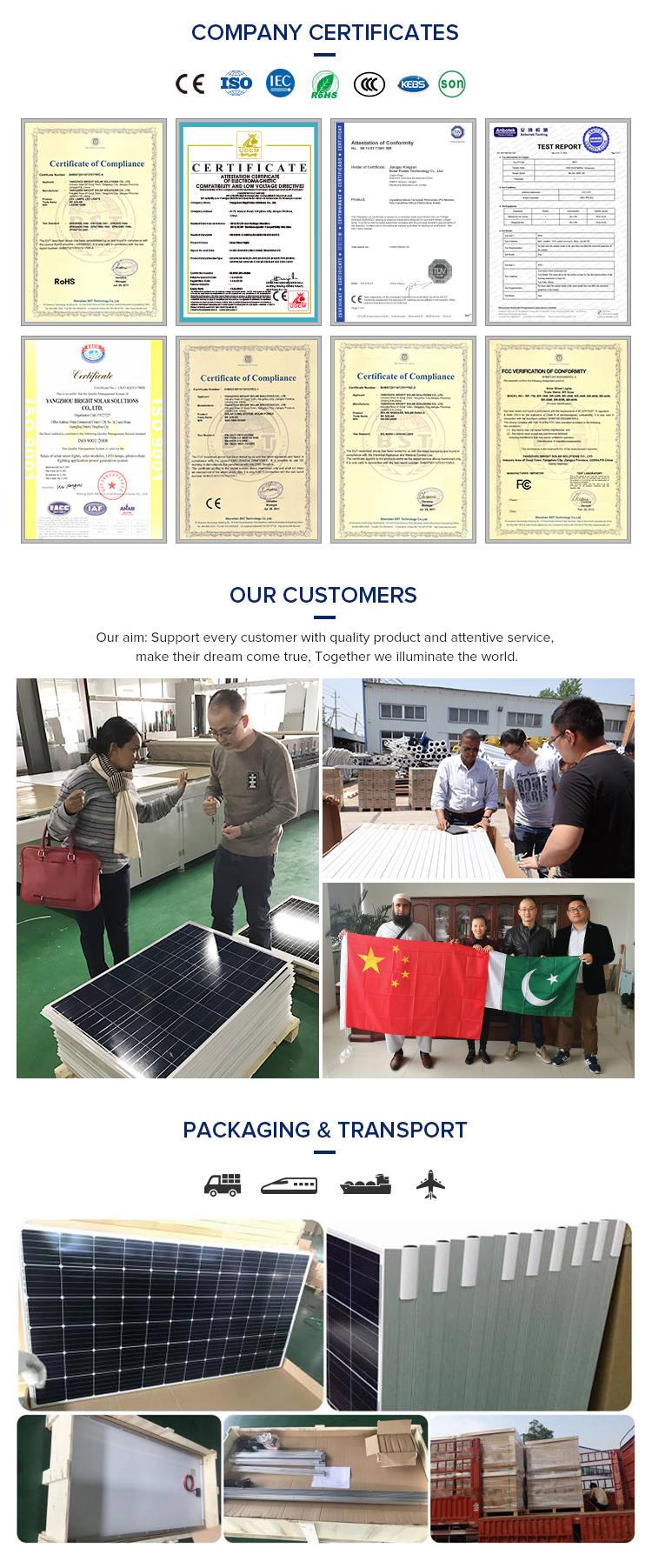 Rechargeable heat resistant solar panel assembly line 250W