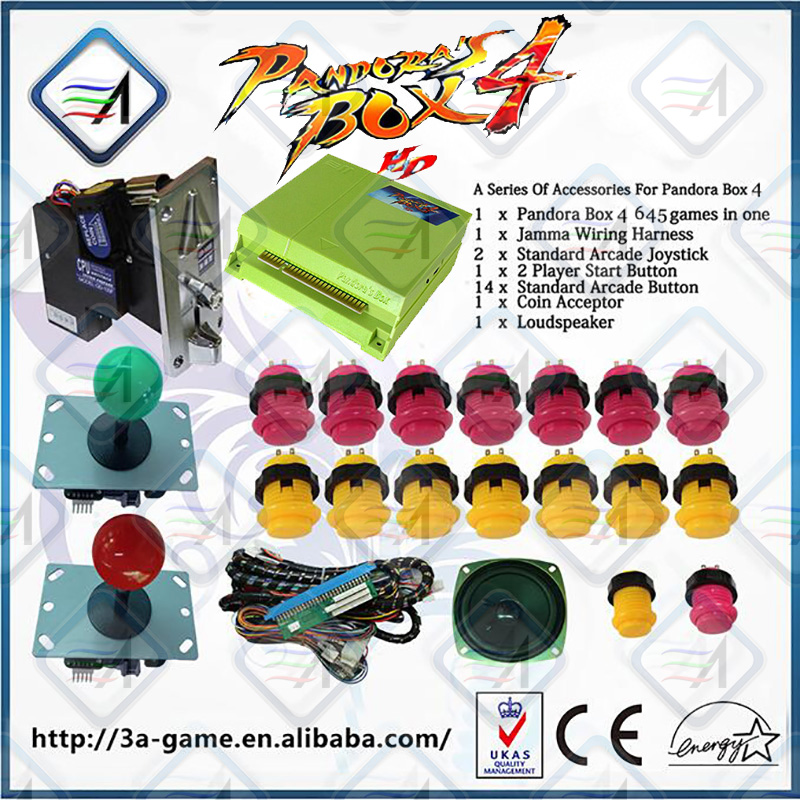 Newest DIY Arcade game machine parts joystick buttons and games board for sale