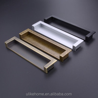 Modern chest drawer handle invisible dark pull handle concealed embedded Drawer Cabinet handle