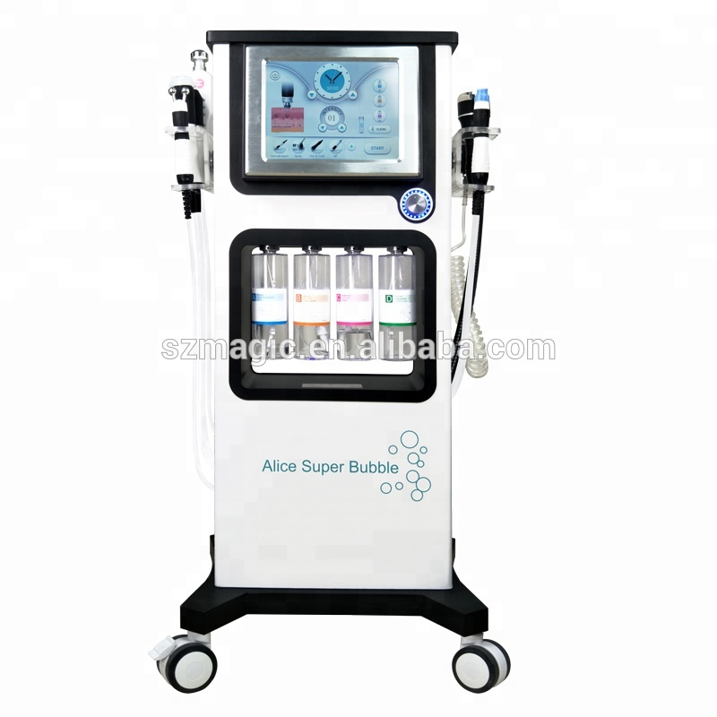 7 in 1 hydro water aqua  peel microdermabraion oxygen CO2 Bubble facial deep  face cleansing machine vacuum