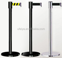 Custom Printing Roadway Safety Warning Belt Pole Museum Exhibition Barrier Stanchion