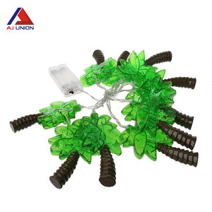 Battery power 20 coconut tree palm led string light