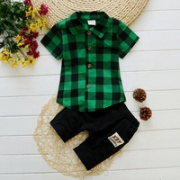 SS-694B Summer New Arrival Boy Clothes Sets Cotton Casual Children Clothing Sets Kids Suits For 1-7 Years