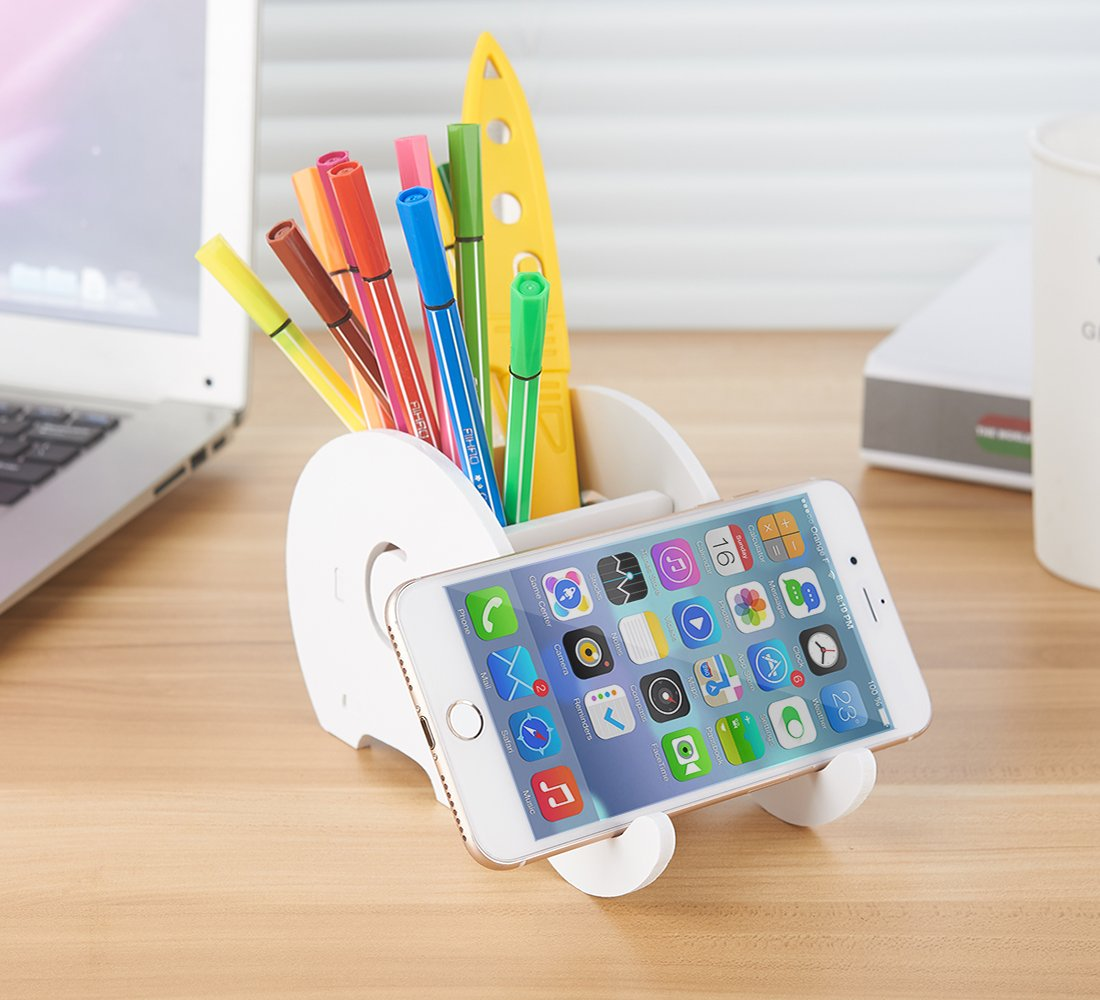 Office & School Supplies Pen Holders Cell Phone Stand Cute Elephant Phone Stand Tablet Desk Bracket With Pen Pencil Holder Compatible Smartphone Desk Decoration Mu