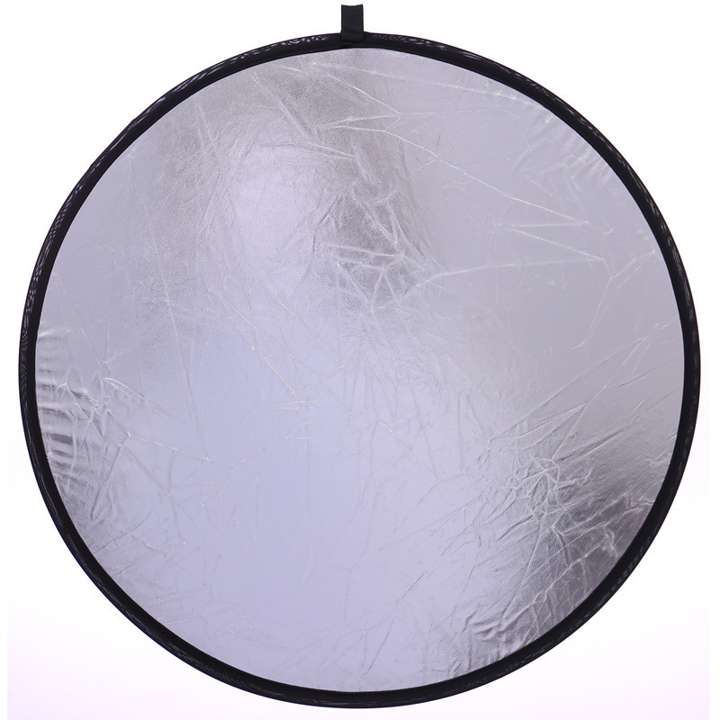 "Foldable 2 in1 Portable Light Reflector of 23.6""/60cm Handhold Multi Collapsible Disc Light Reflector for Photography"
