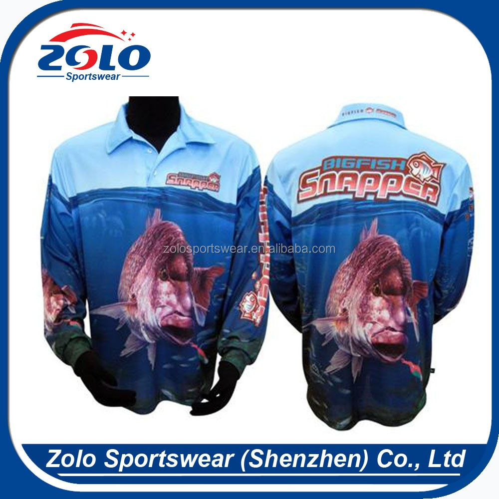 Polyester Long Sleeve Quick Dry Fishing Shirtscheap Custom Fishing