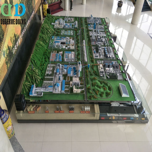 hot sale factory models making hand made scale factory models made in China
