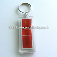 Customized Logo Printed promotion acrylic key chain ,plastic key chains ,photo frame acrylic key chain