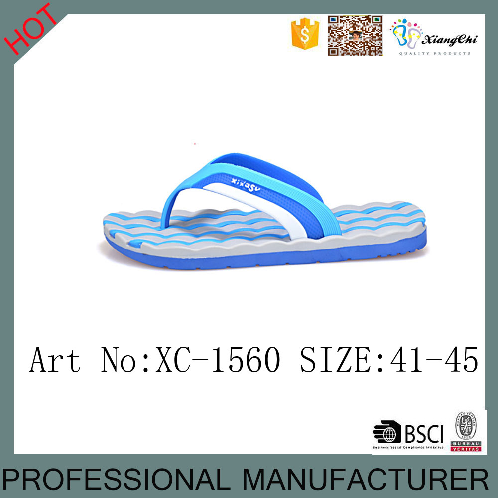 XC-1560 Wholesale PVC Beach Flip Flops <strong>Slippers</strong>