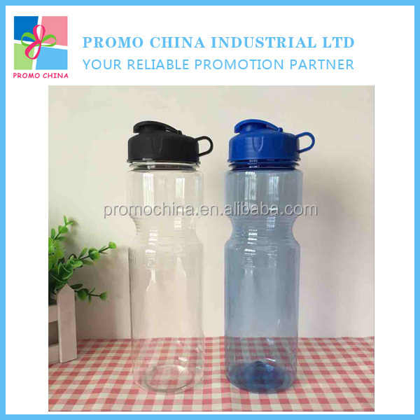 750ml BPA Free Transparent Plastic Bike Sport Bottle With a Flip Top Lid