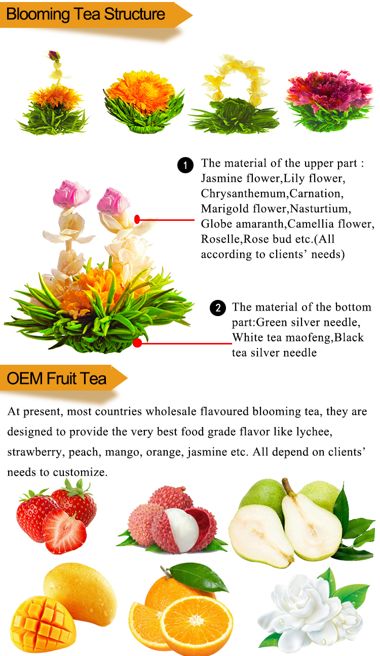 Japanese Cheap Caffeine Free Mini Blooming Lily Fairy Jasmine Teabloom Flower Flowering Buds Tea Target Pot Leaves Balls in Bulk