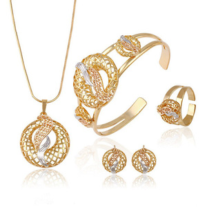 63433 Dubai Gold Jewelry Fashion/Multicolor American Hot Sale Gold Plated jewelry Sets