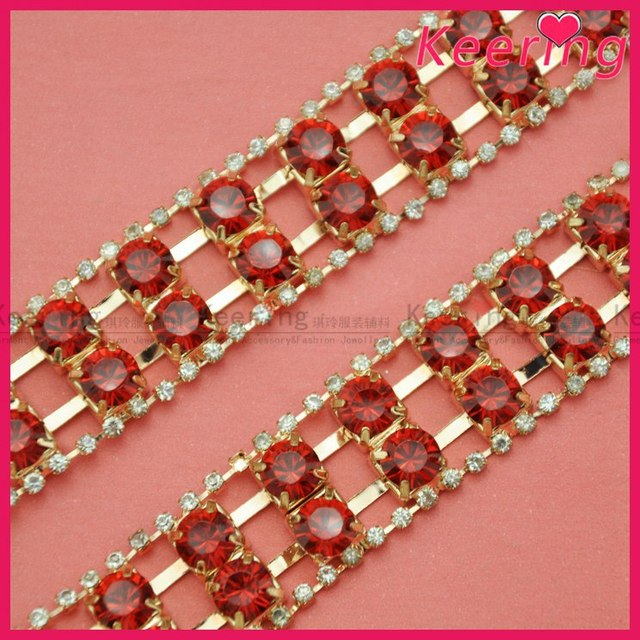 3mm rhinestone chain trimming with extremely shiny effects for fabrics  decoration WRC-346 9d08cd7f14dc