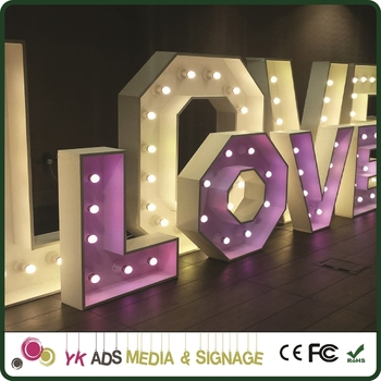 Marquee Sign Letters Advertising Front Light Acrylic 3d