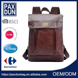 Wholesale good quality pu leather Organic School Backpack For Teenagers