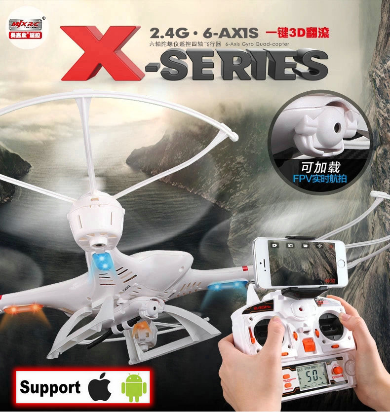 MJX WiFi X400 Original 2.4G 4CH 6-Axis Remote Control RC Helicopter Quadcopter