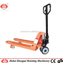 High lift 2.5 ton hydraulic hand pallet truck with nylon/pu wheels