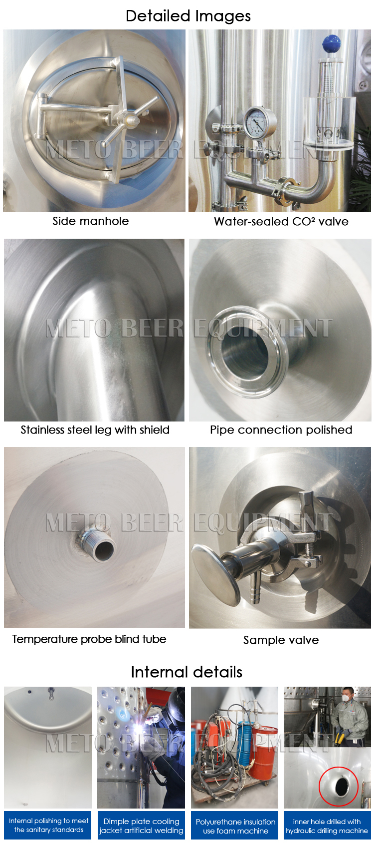 Larger industrial beer brewing system equipment for sale