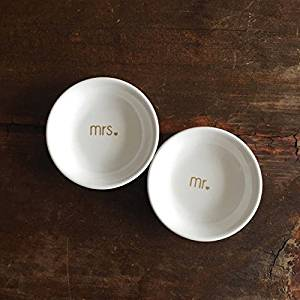 Mr and Mrs Gold Ring Dish Set of 2 | Jewelry Dish | Jewelry Holder | Jewelry Wedding Gift | Bridal Shower | Engagement