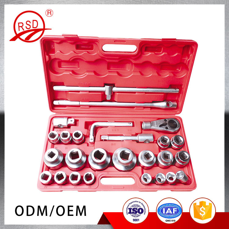 3/4 Sleeve Wrench Set 26 Pcs Chromium Plating Drive Socket Set