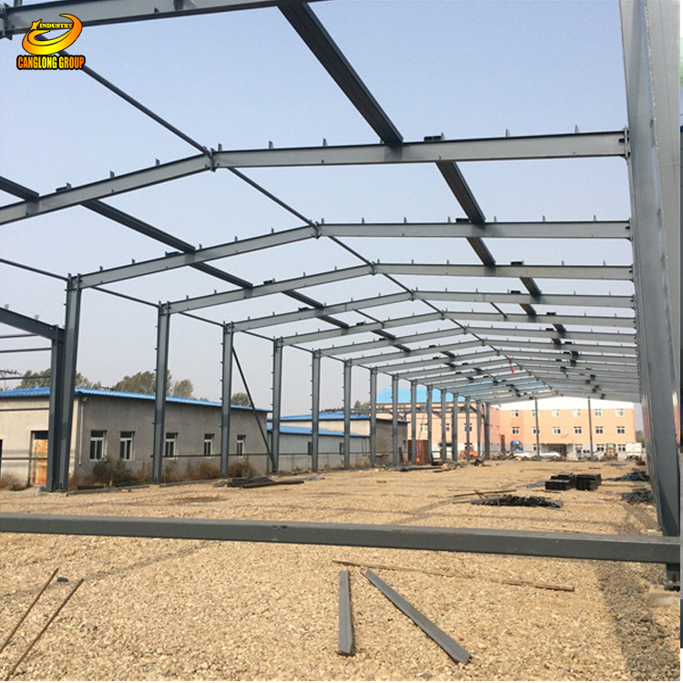 Industrial steel mental frame warehouse sheds prices