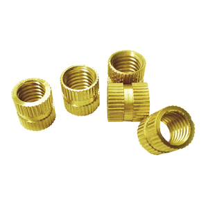 M2 brass screw 8mm knurled insets blind threaded insert for aluminium