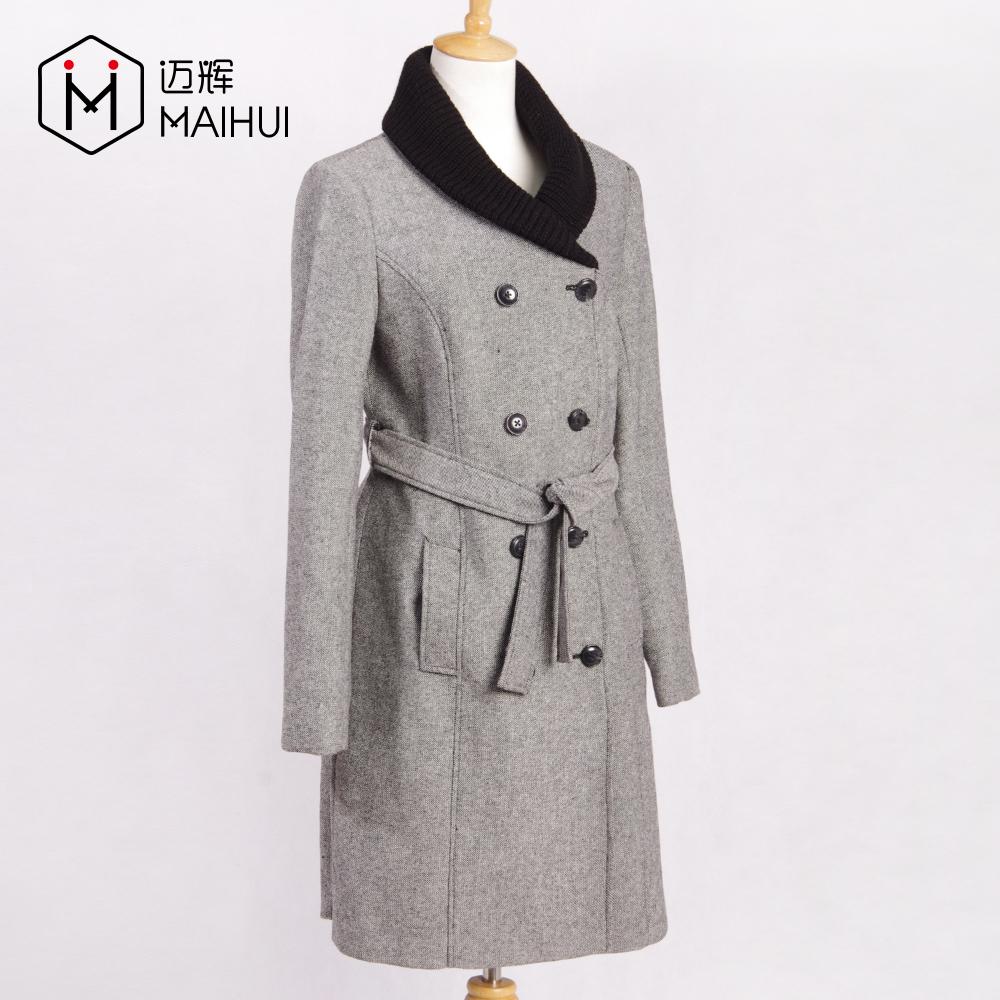 Yeni Stil Giysi Tasarım Kış Ceket Kadınlar Uzun Yün Varsity Ceket